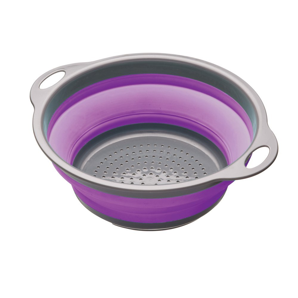 A Brightly Coloured Silicone Collapsible Colander