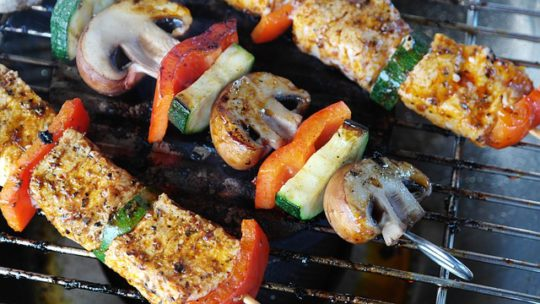 tasty grilled food