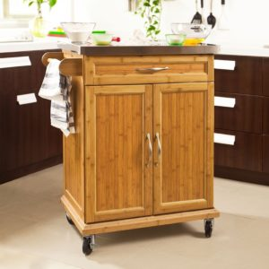 For more information please visit Amazon Bamboo Kitchen Cabinet Kitchen Cart Island Storage Trolley