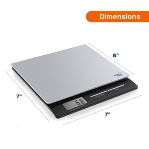 The Smart Weigh PL11B Professional Digital Kitchen Scales