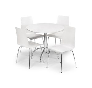 White round kitchen table dining