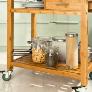 kitchen storage trolley and contents