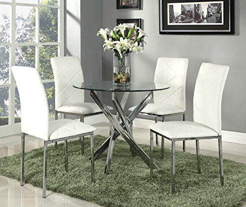 Quality round kitchen table sets for 4 people - Organizational furniture for small spaces set ...