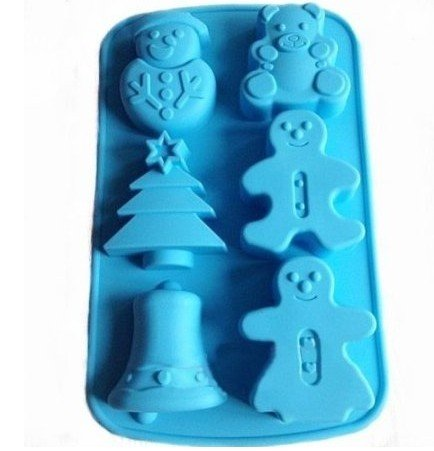 snowmen, bell, bear,and christmas tree silicone moulds