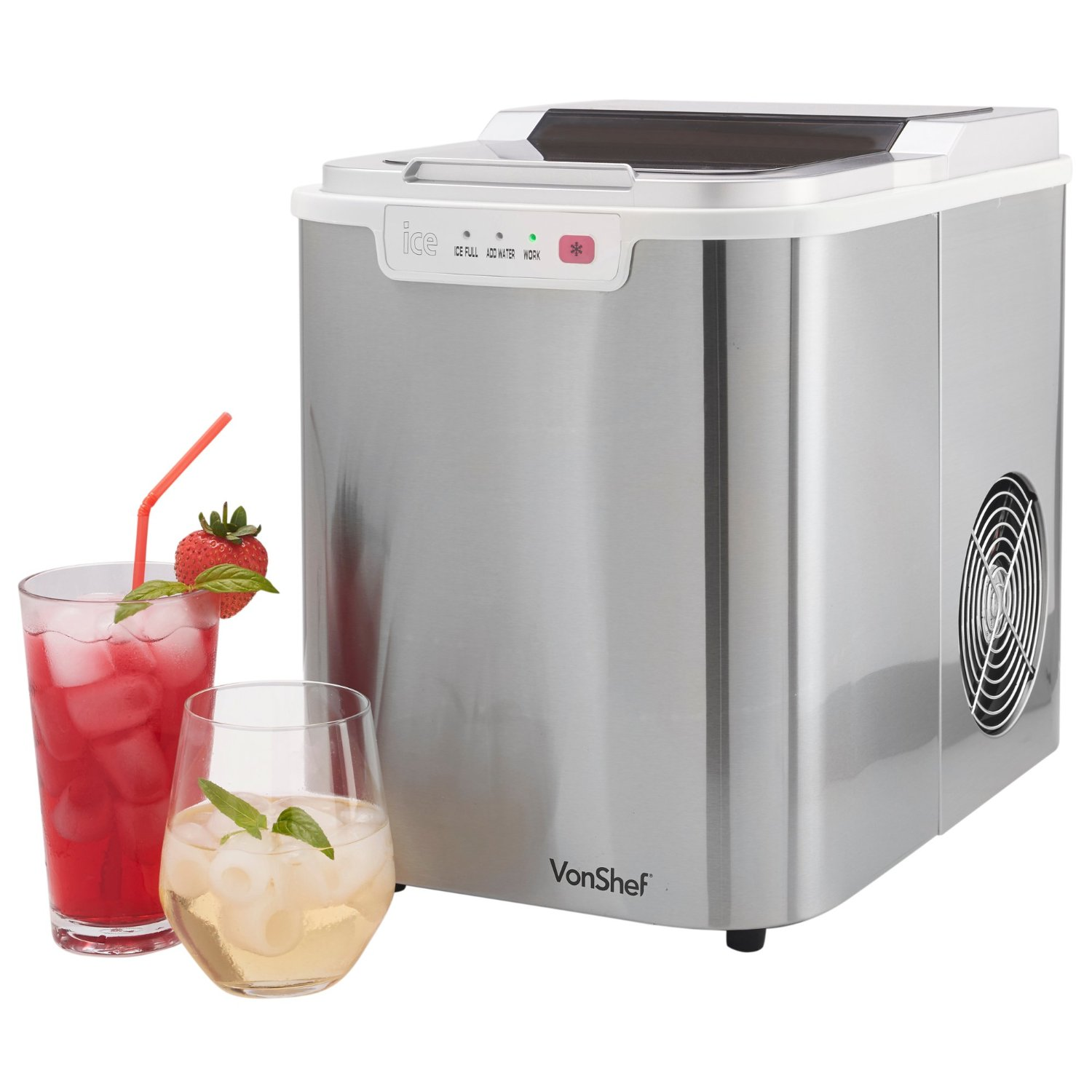 The VonShef Electrical Compact Counter Top Ice Maker Machine