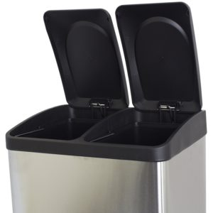 Double Kitchen Waste Bins For Easy Recycling