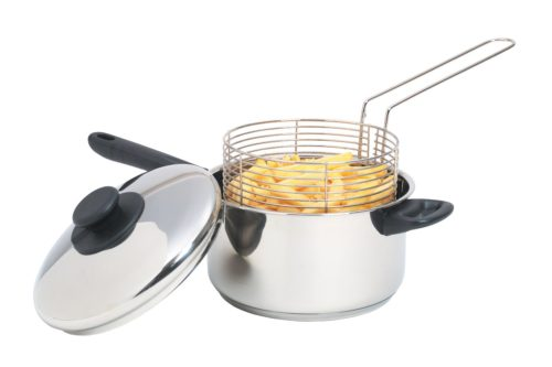 chip pan with basket for frying