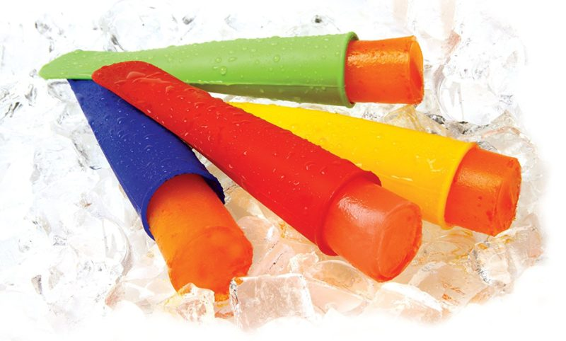 colourful silicone ice pop moulds