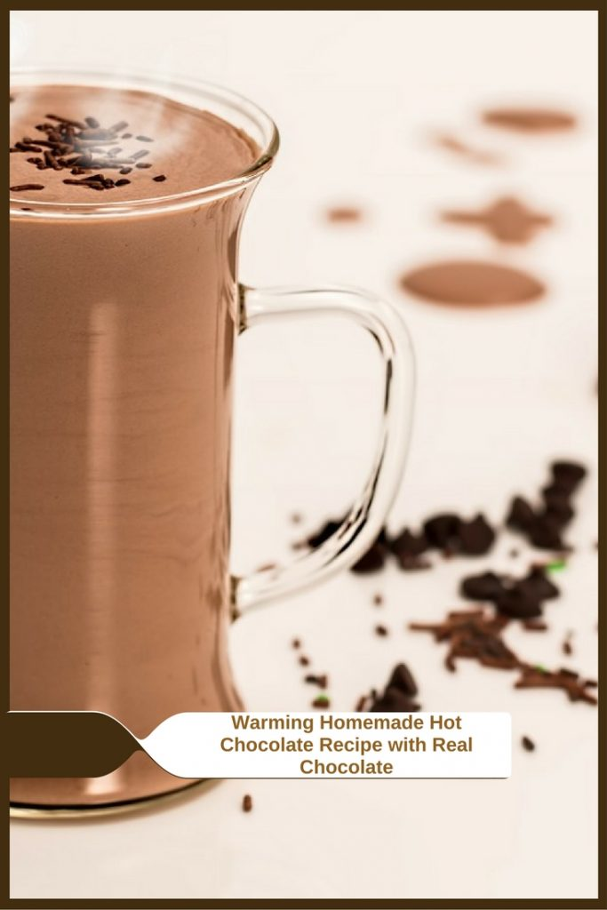 Warming Homemade Hot Chocolate Recipe with Real Chocolate tasty