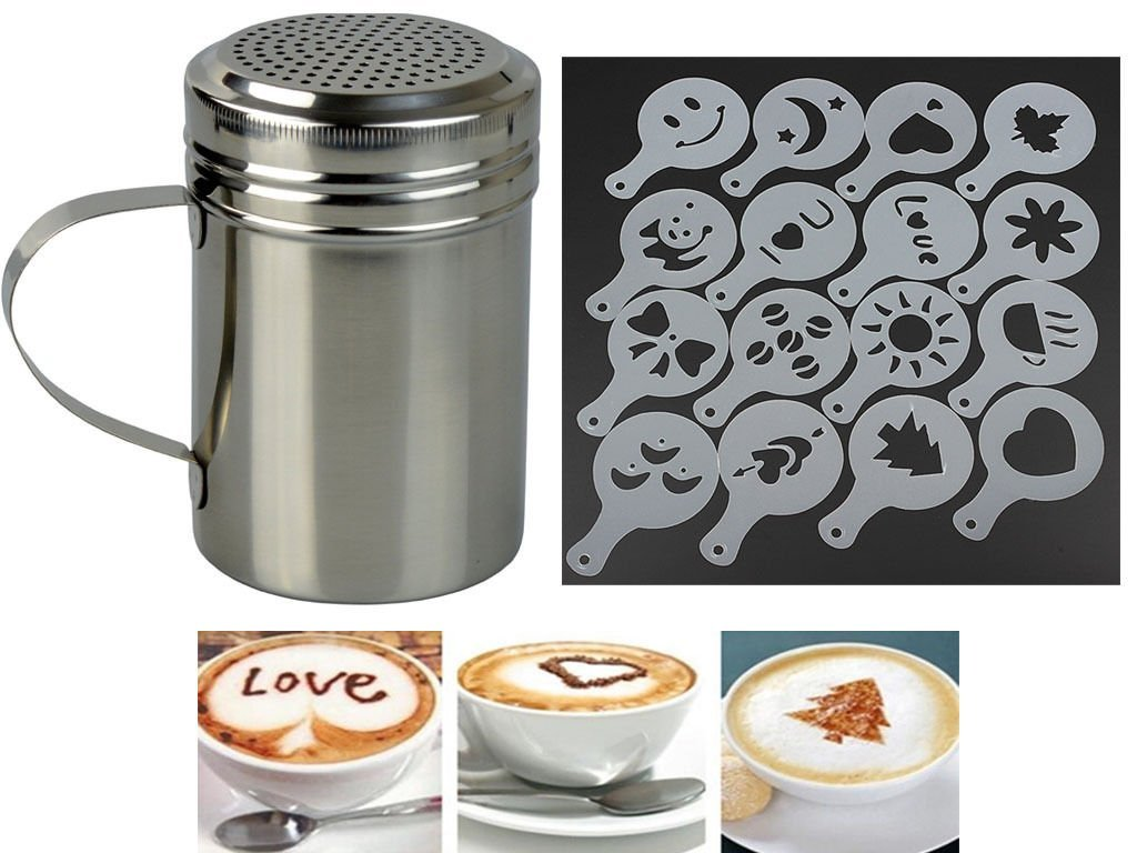 chocolate shaker and stencils set