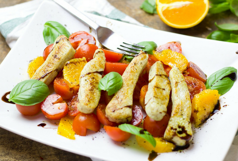 Quick and Easy Healthy Chicken & Orange Salad