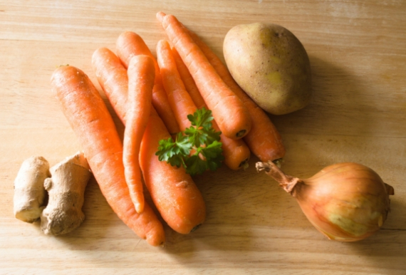 Carrot & Ginger Soup Ingredients